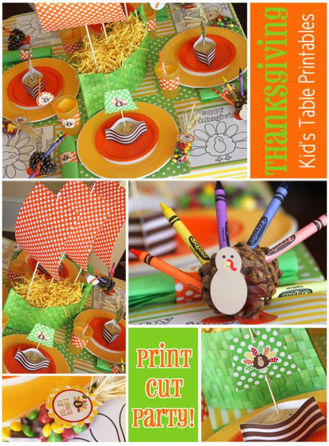 Free Thanksgiving Kids Table Printables
