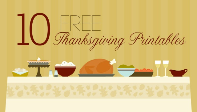 Thanksgiving Printables Let Them Eat Sweets